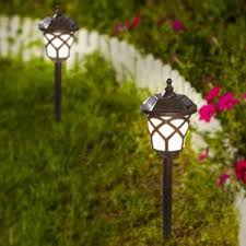 desert steel solar lights walkway path lights you ll love wayfair