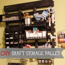 Diy Craft Room Ideas - studio craft room organization using pallets and other budget
