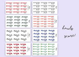 Marshalls Patio Planner Store Hauls Planner Stickers Michaels Joann Sephora Dollar