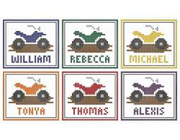 atv four wheeler original customizable cross stitch