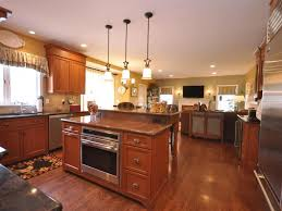 kitchen chocolate maple glaze kitchen island plus wine cellar