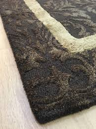 5 X 8 Area Rugs by Handmade Wool Viscose Persian Brown Gold 5x8 Lt1046 Area Rug