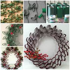 wonderful diy unique wreath from paper rolls