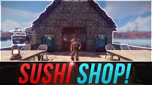 sushi shop siege selling sushi to customers rust sushi shop