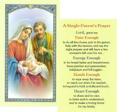item 800 085 holy family prayer card with single parent s
