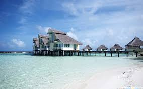 water bungalows in alifu atoll