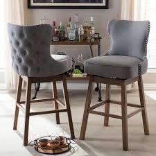 cushioned bar stool amazing baxton studio gradisca beige fabric upholstered 2 piece