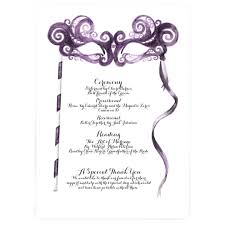 wedding day program masquerade wedding ceremony program charmcat
