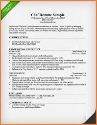 Sample Sous Chef Resume by Head Chef Resume Sample And Sous Chef Resume Objective