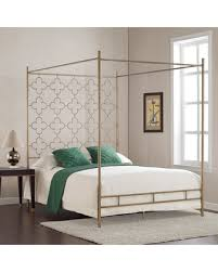 Gold Canopy Bed Deals On Retro Glitz Brushed Goldtone Quatrefoil Canopy Bed