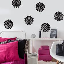 compare prices on large flower wall sticker online shopping buy 6pcs set large flower wall stickers vinyl removable wall sticker artistic design wall decal home