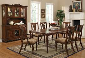 China Cabinet And Dining Room Set Coaster Fine Furniture 103511 103512 103513 Addison Dining Table Set