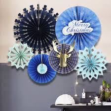 paper fan circle decorations merry christmas 6pcs christmas paper fan set holiday hanging