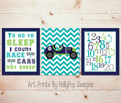 Bedroom Wall Art Sets Nursery Art Set Race Car Nursery Boy Nursery Art Baby Boy Art