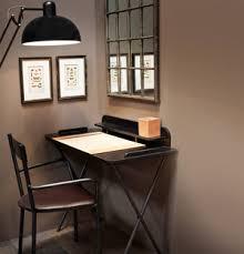 petit bureau noir bureau en bois et métal noir côté table bureau