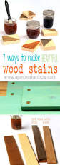 quick and easy home improvements make wood stain 7 ways wood stain rainbows and woods
