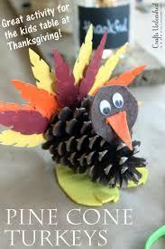 turkey craft for kids pine cone turkeys crafts unleashed