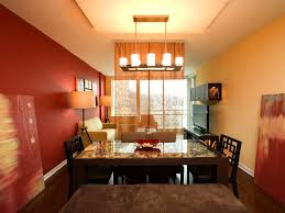 orange paint colors for dining rooms with fireplace and ceiling