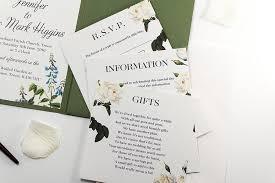 Wedding Invitations Information Botanic Wedding Invitation In Olive Green Pocketfold Wallet Com