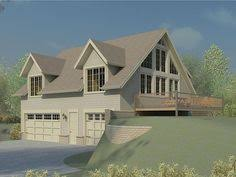 house plans sloped lot carriage house plans carriage house plan for a sloping or