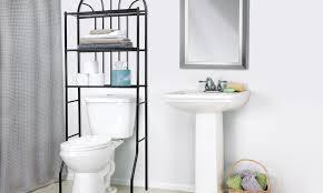 Metal Bathroom Shelves Home Basics Bathroom Shelves Groupon Goods