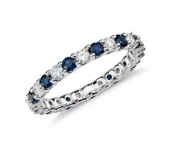 white gold eternity ring sapphire and diamond eternity ring in 14k white gold 5 8 ct