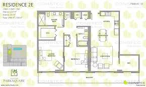Den Floor Plan Aventura Park Square Floor Plans