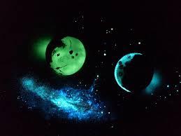 Glow In The Dark Star Ceiling by Mx24 Glow In The Dark Paint Glomania