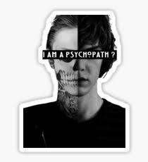 tate langdon american horror story stickers redbubble