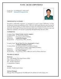 Instrumentation Project Engineer Resume Resume For The Instrumentation Engineer