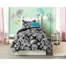 Paisley Comforter Sets Full Black U0026 White Paisley Comforter Set Xhilaration Target