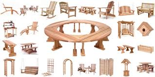Free Plans For Yard Furniture by Teak Cedar And Rattan Outdoor Adirondack Furniture Selections
