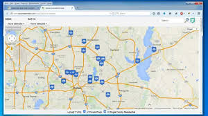 Map Of Florida Zip Codes by Create A Map Easily Map Multiple Locations From Excel Data