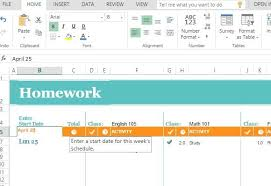 Study Schedule Template Excel Free Homework Schedule Template For Excel