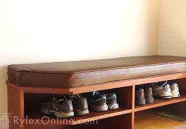 Cushioned Storage Bench Entryway Storage Cabinet New Windsor Ny Rylex Custom Cabinetry