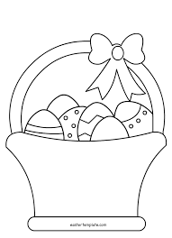 free printable easter egg coloring pages easter basket with eggs coloring page easter template within free