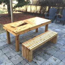 picnic table bench plans patio table with bench fresh wonderful ana white diy patio table