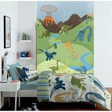 bedroom perfect dinosaur themed kids room with fun wall mural