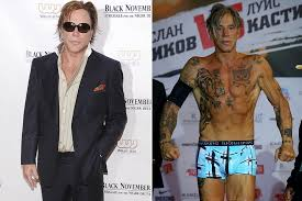 Mickey Rourke News Newslocker - as mickey rourke shows off dramatic new look ahead of boxing match