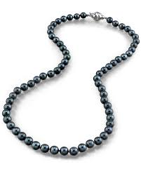 jewelry black pearl necklace images 5 5 6 0mm japanese akoya black pearl necklace aa quality jpg