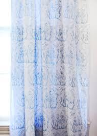 Blue Toile Curtains Blue Toile Curtain Panels Five Court Floral Panel
