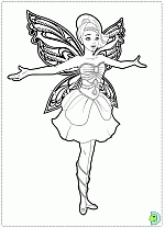 barbie mariposa fairy princess coloring pages coloring