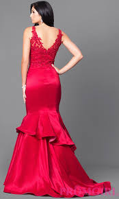 formal mermaid prom dress 2017 with v neck promgirl