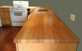 Captivating 10 Best Wood Stain For Kitchen Cabinets Inspiration by Kitchen Butcher Block Countertops With Cabinet On Wooden Floor