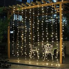 amazon com twinkle star 300 led window curtain string light for