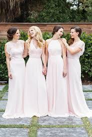 mismatched bridesmaid dress styles colors david s bridal