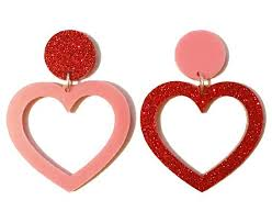 heart ear rings images Heart earrings small yippywhippy jpg