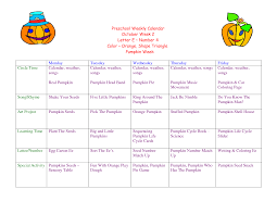 weekly lesson planner template toddler lesson plan template pdf google search infant toddler toddler lesson plans for october preschool weekly calendar october week 2 letter e number