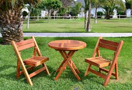 Round Redwood Picnic Table by Redwood Folding Table And Chairs Set Custom Wood Furniture
