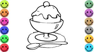 how to draw ice cream coloring pages food drawing and art